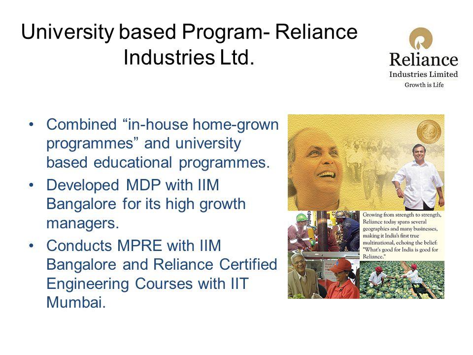 University based Program- Reliance Industries Ltd.