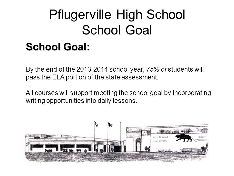 Pflugerville High School School Goal