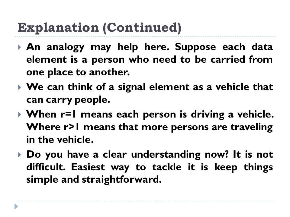 Explanation (Continued)