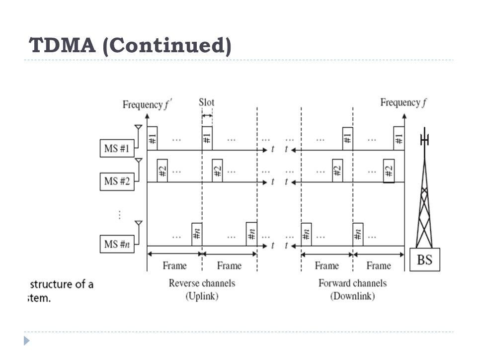 TDMA (Continued)