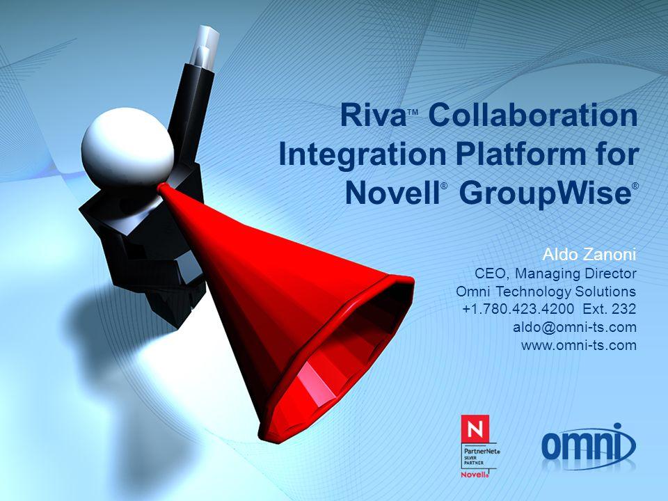 RivaTM Collaboration Integration Platform for Novell® GroupWise®
