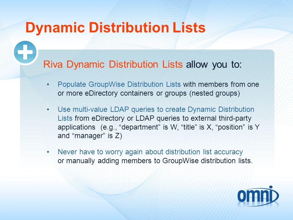 Dynamic Distribution Lists
