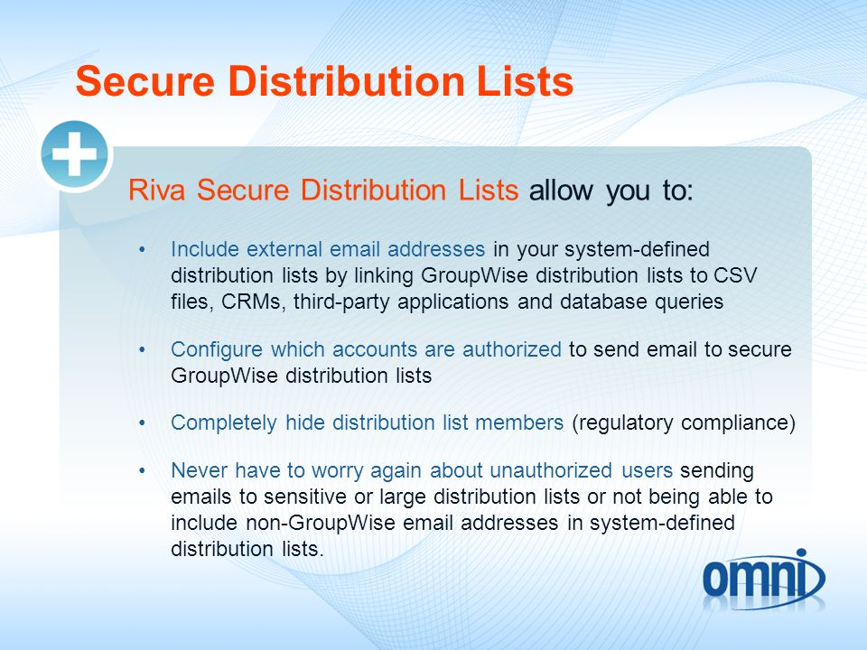 Secure Distribution Lists