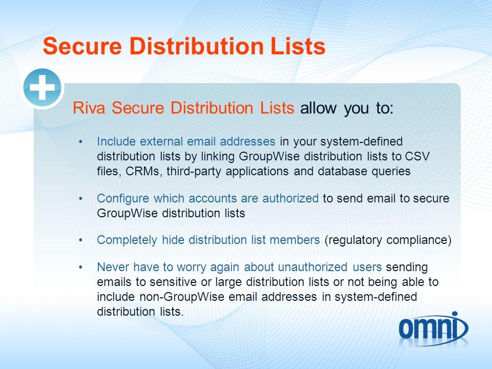 Secure Distribution Lists