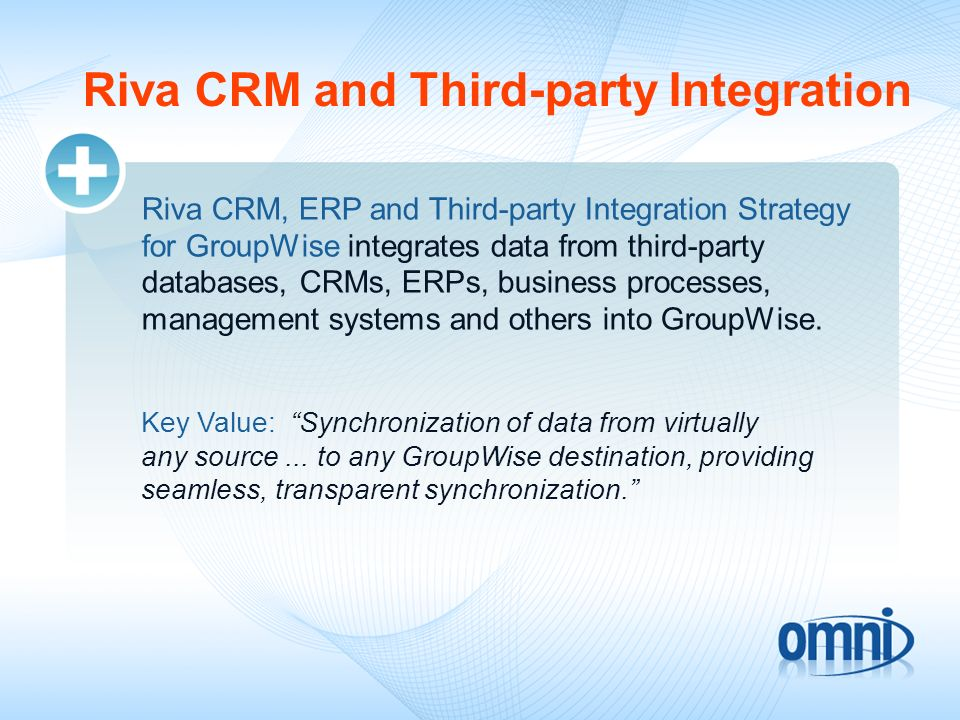 Riva CRM and Third-party Integration
