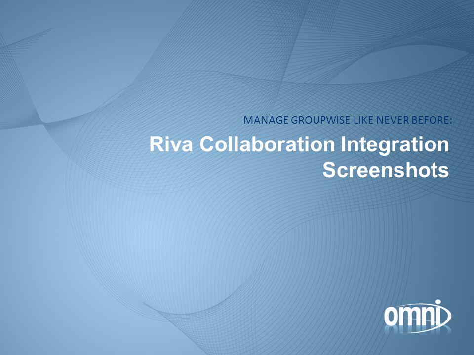 Riva Collaboration Integration Screenshots