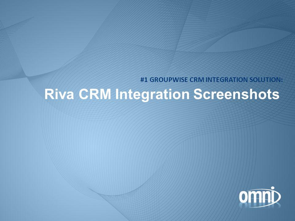 Riva CRM Integration Screenshots