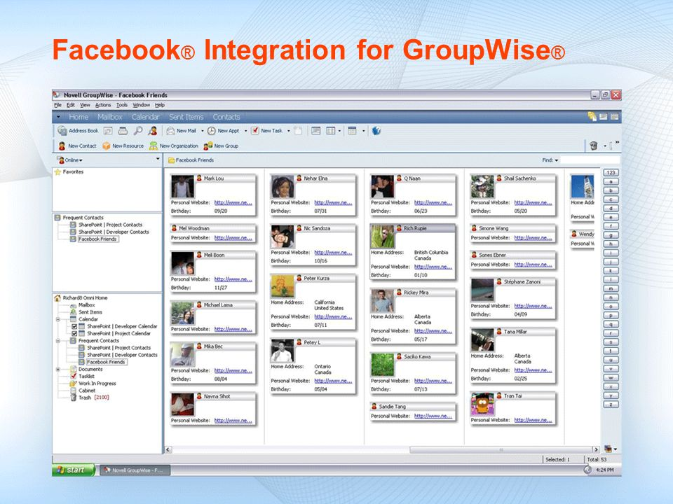 Facebook® Integration for GroupWise®
