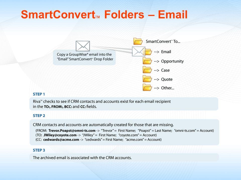 SmartConvertTM Folders – Email