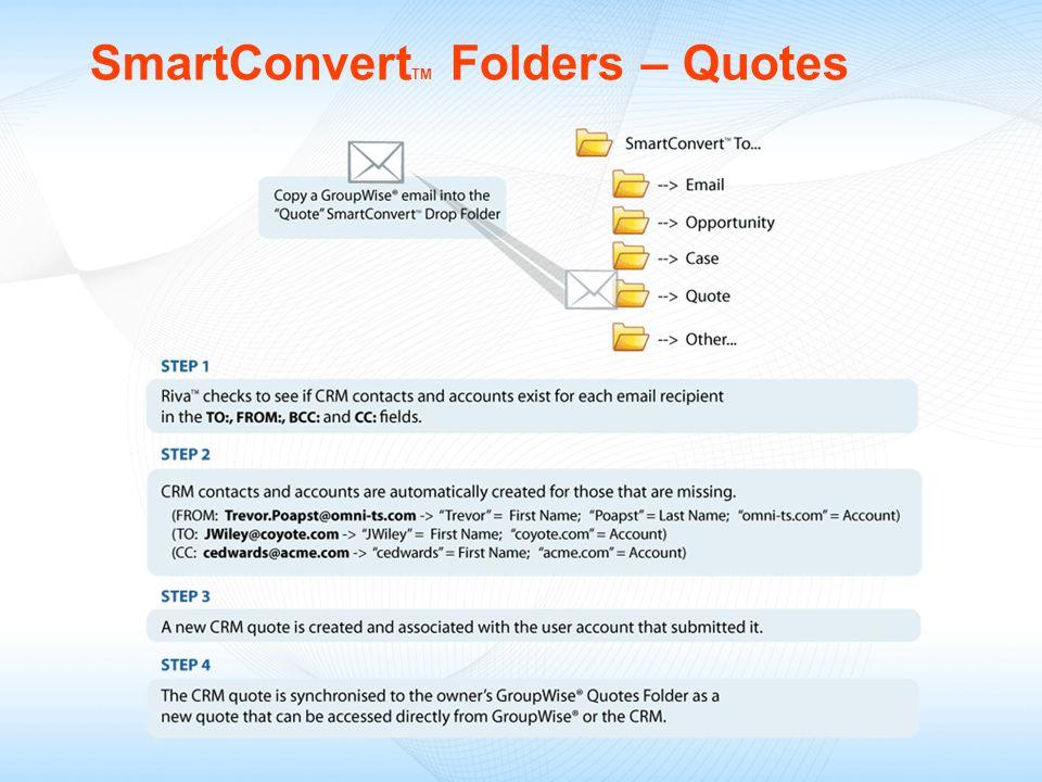 SmartConvertTM Folders – Quotes
