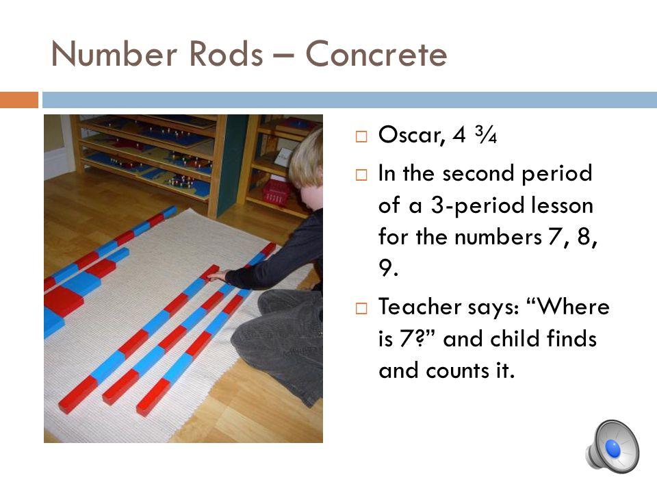 Number Rods – Concrete Oscar, 4 ¾