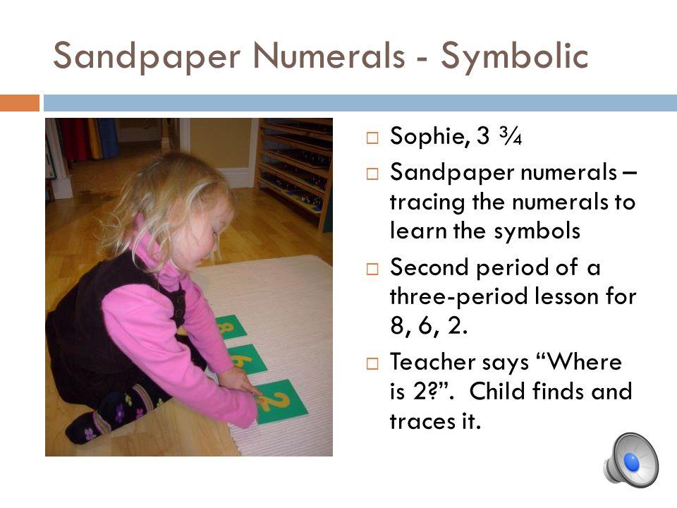 Sandpaper Numerals - Symbolic