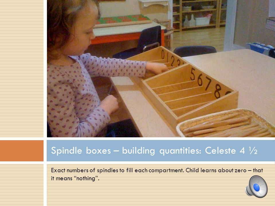 Spindle boxes – building quantities: Celeste 4 ½