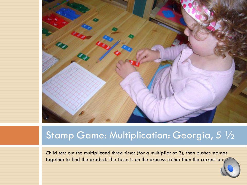 Stamp Game: Multiplication: Georgia, 5 ½