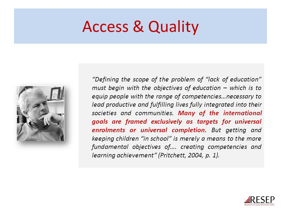 Access & Quality