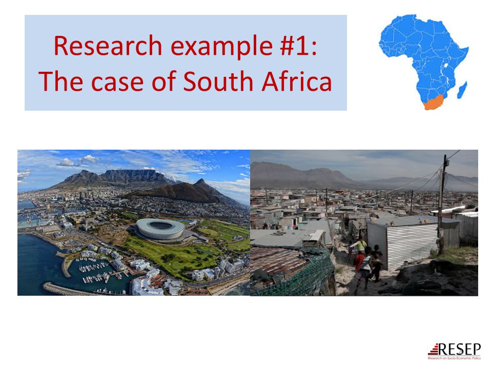 Research example #1: The case of South Africa