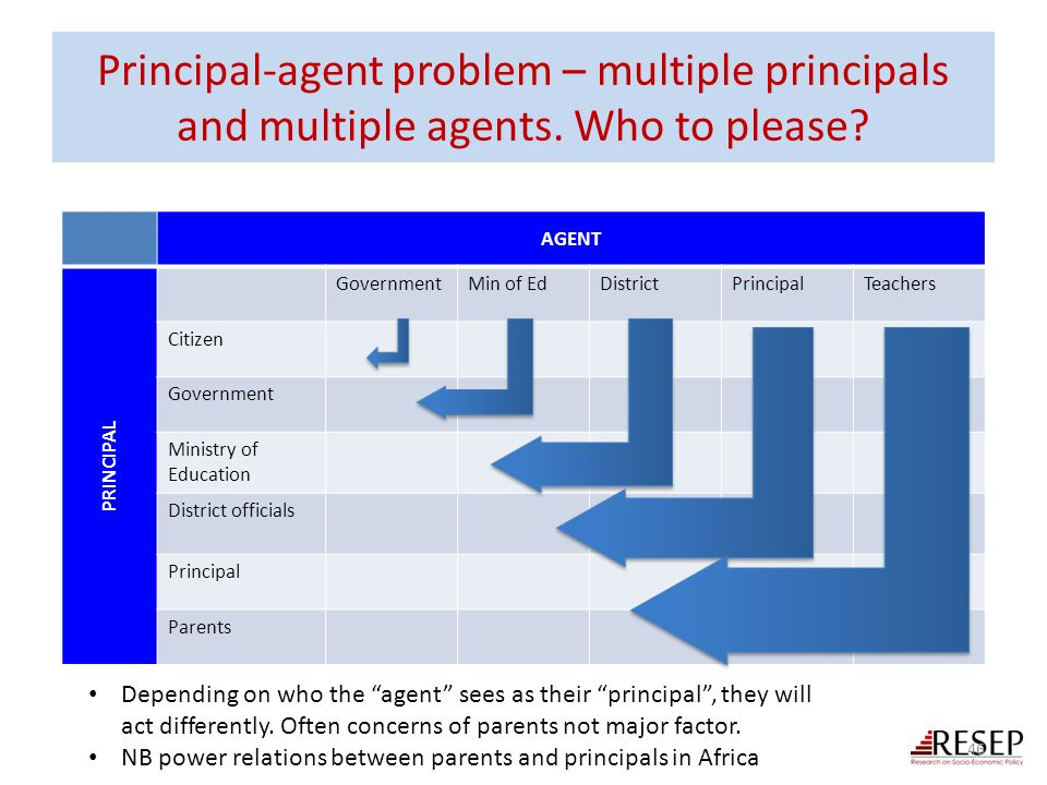 Principal-agent problem – multiple principals and multiple agents