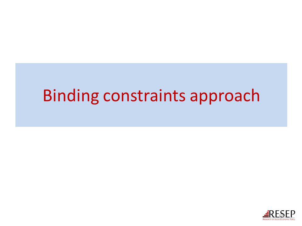 Binding constraints approach