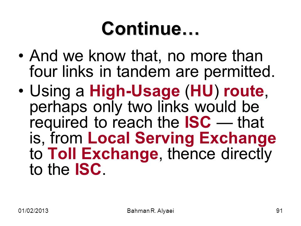 Continue… And we know that, no more than four links in tandem are permitted.