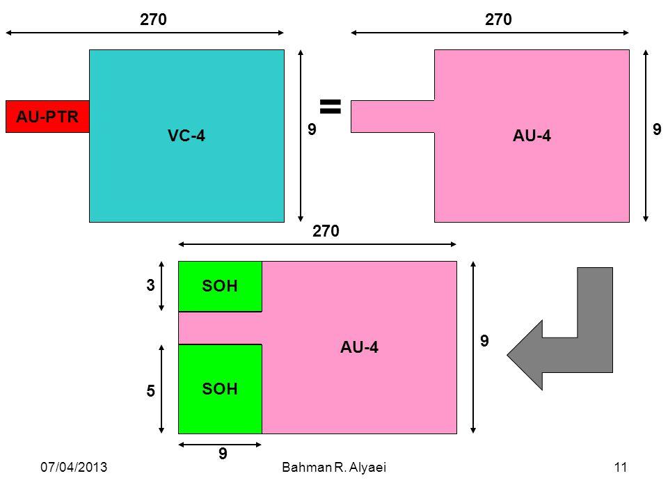 VC-4 AU-PTR 270 9 AU-4 SOH 3 5 = 07/04/2013 Bahman R. Alyaei
