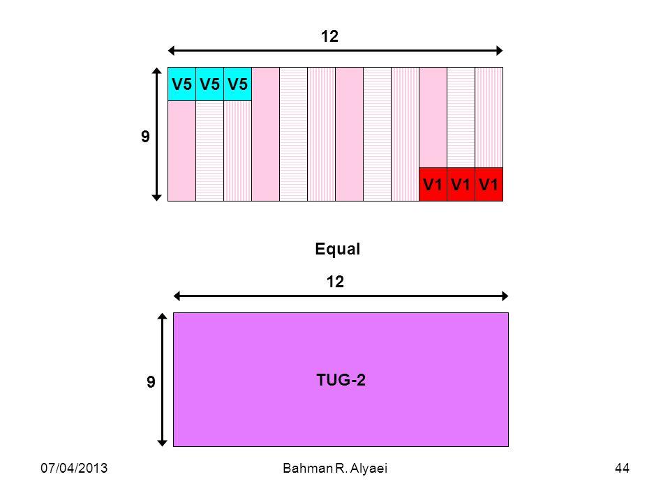 V5 V1 9 12 TUG-2 Equal 07/04/2013 Bahman R. Alyaei