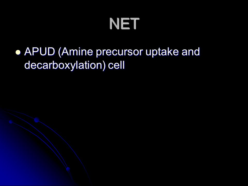 NET APUD (Amine precursor uptake and decarboxylation) cell