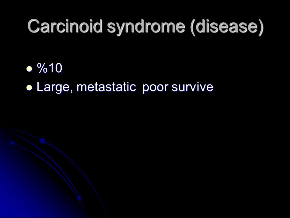 Carcinoid syndrome (disease)