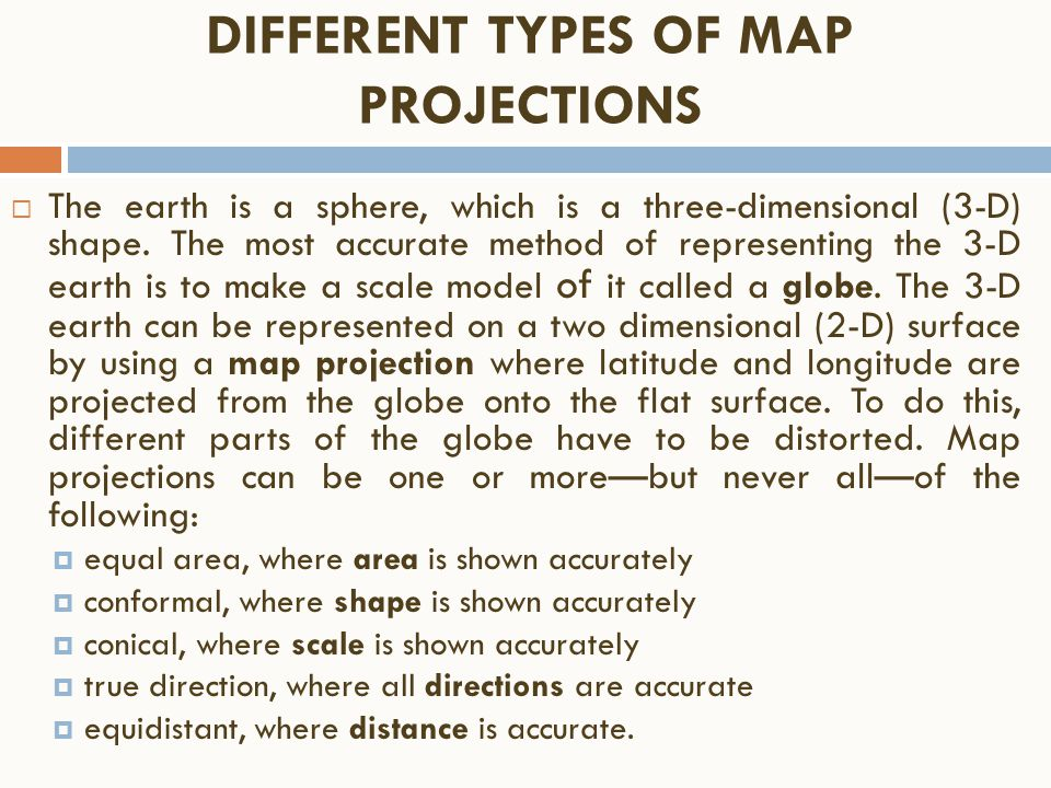 different types of map projections Start studying ap human geography map projections learn vocabulary, terms, and more with flashcards, games, and other study tools in this type of map.