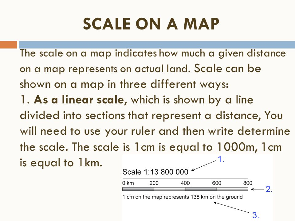 SCALE ON A MAP