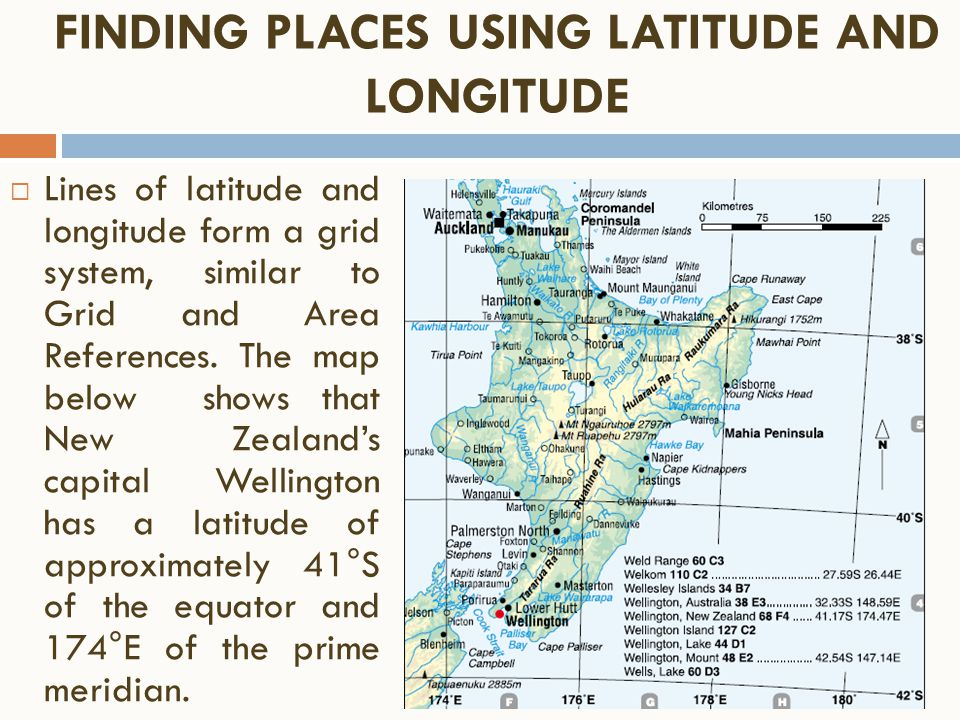 Year Geographical Skills Revision Ppt Video Online Download - New zealand latitude