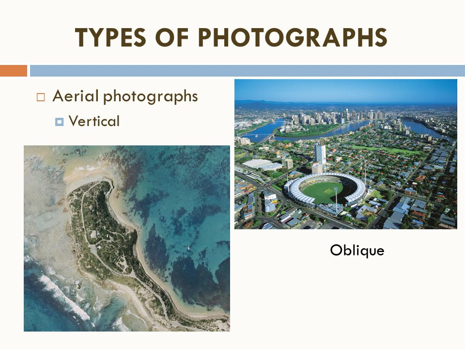 The identification of the types of channels from topographic maps and aerial photographs