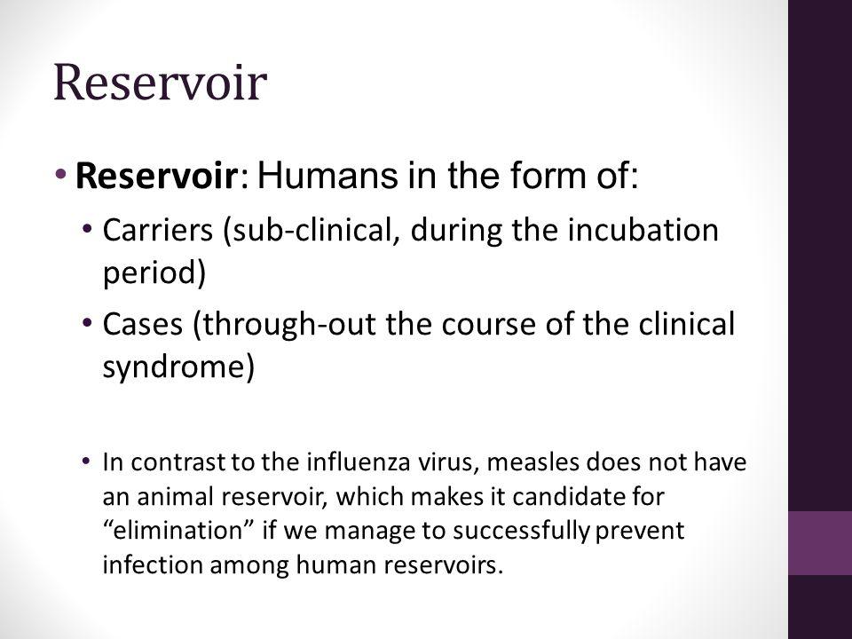 Reservoir Reservoir: Humans in the form of: