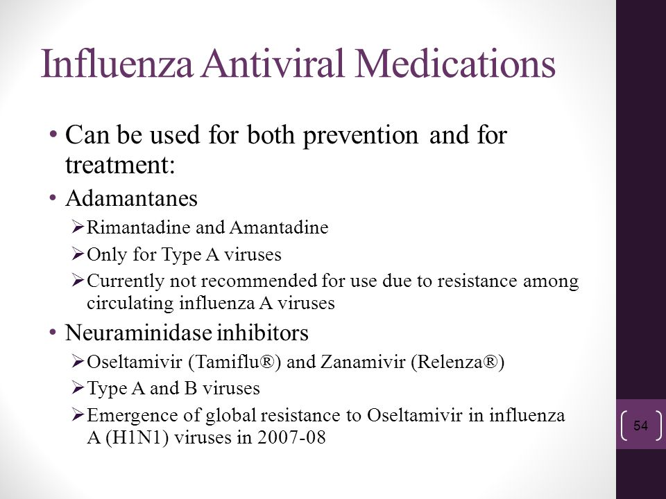 Influenza Antiviral Medications