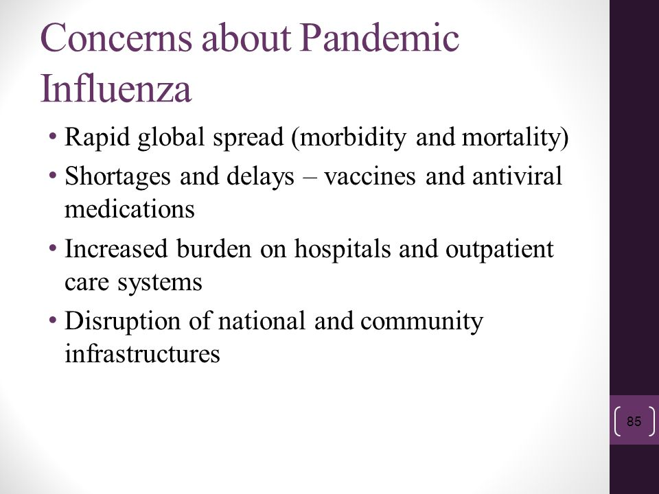 Concerns about Pandemic Influenza