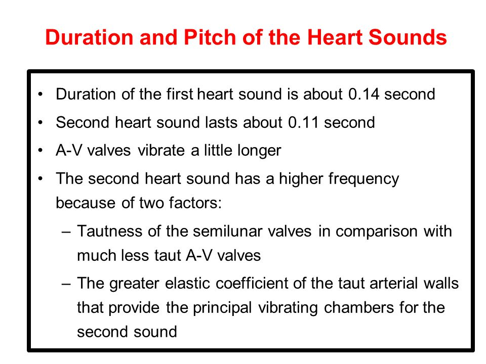 Duration and Pitch of the Heart Sounds