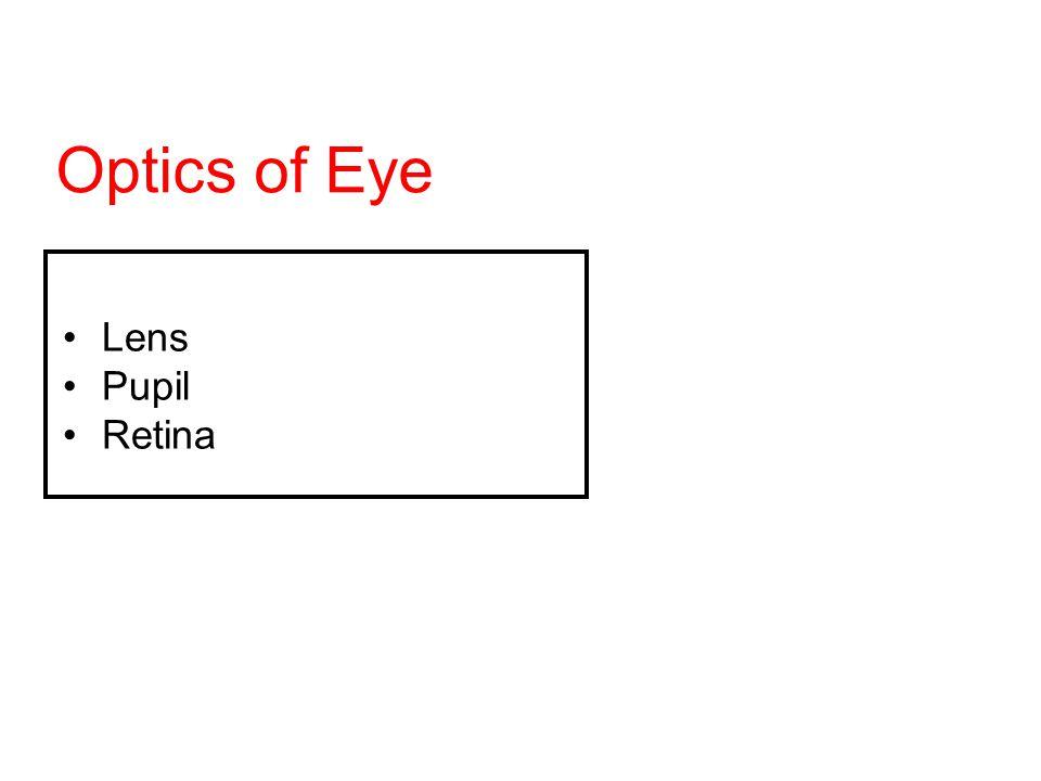 Optics of Eye Lens Pupil Retina