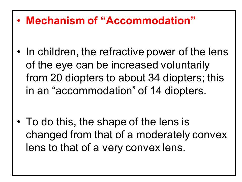 Mechanism of Accommodation
