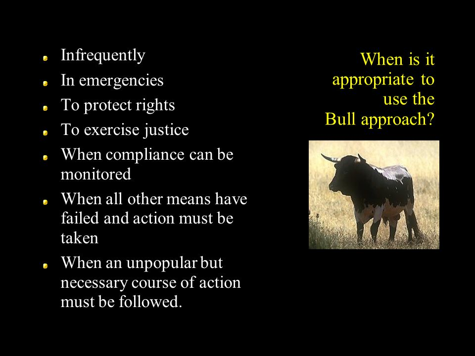 When is it appropriate to use the Bull approach