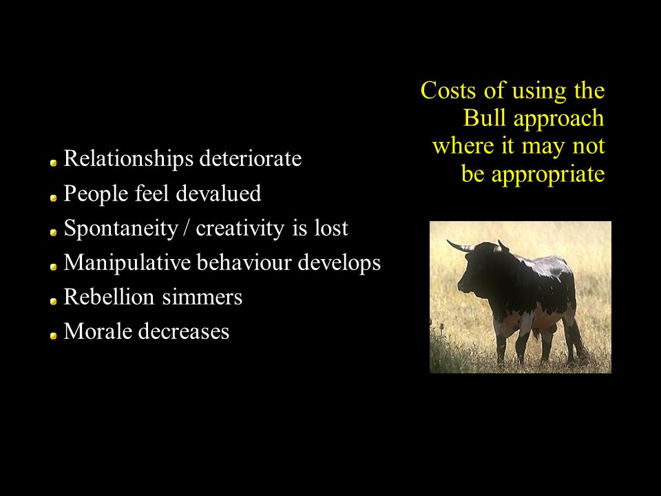 Costs of using the Bull approach where it may not be appropriate