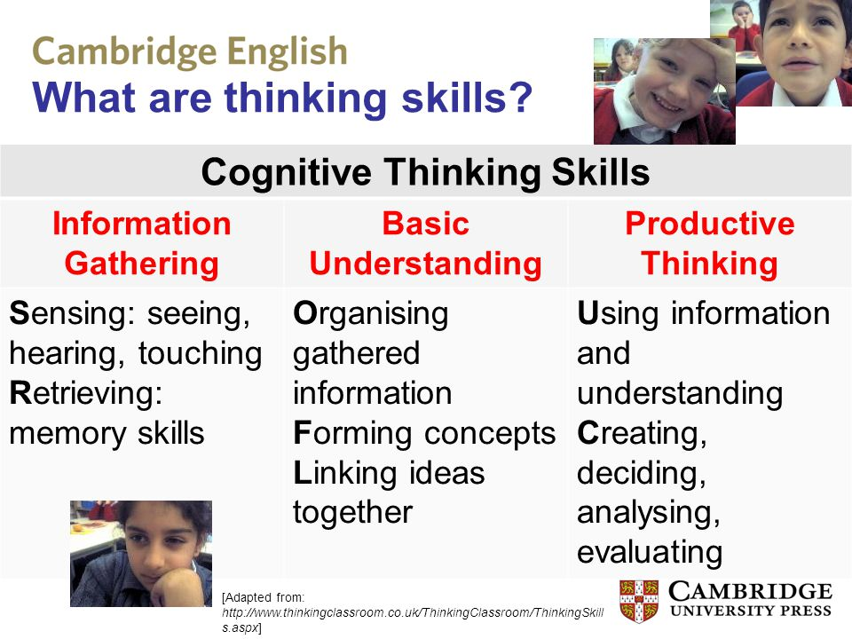 What are thinking skills