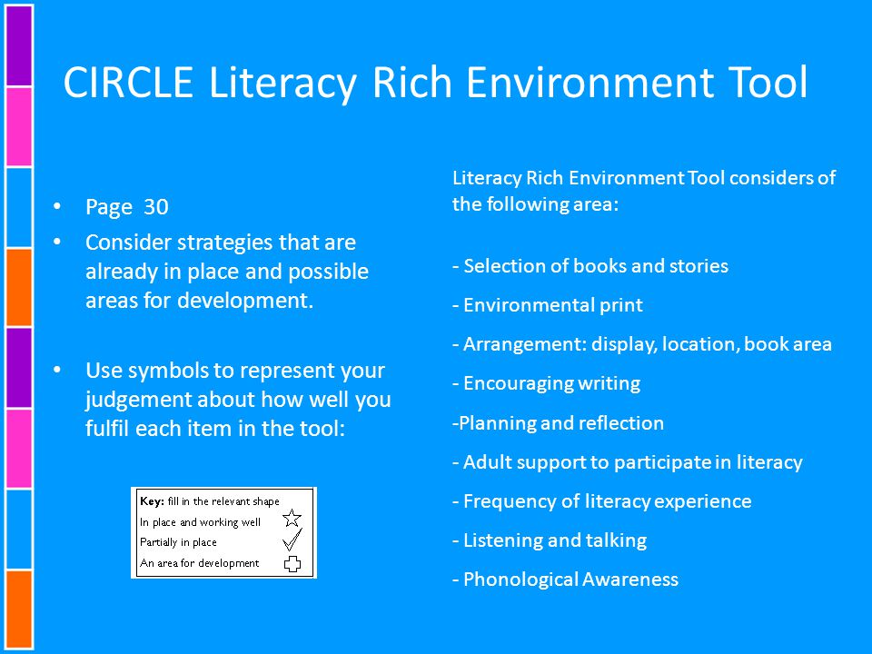 CIRCLE Literacy Rich Environment Tool