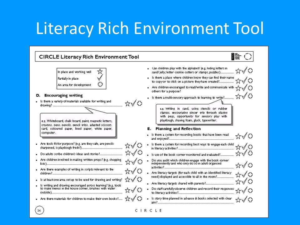 Literacy Rich Environment Tool