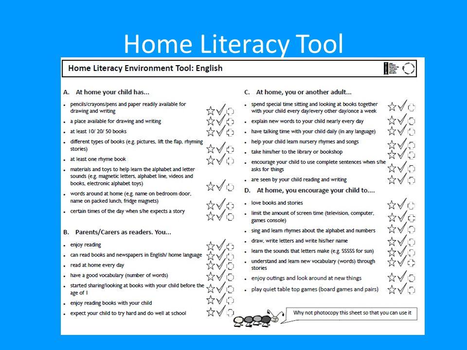 Home Literacy Tool Presenter A