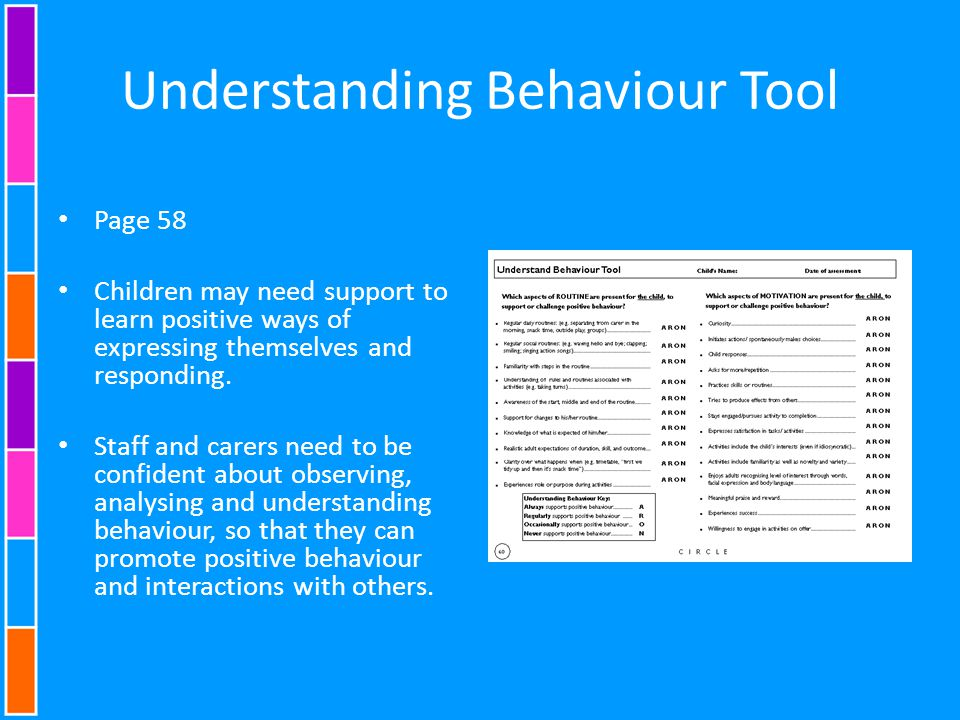 Understanding Behaviour Tool