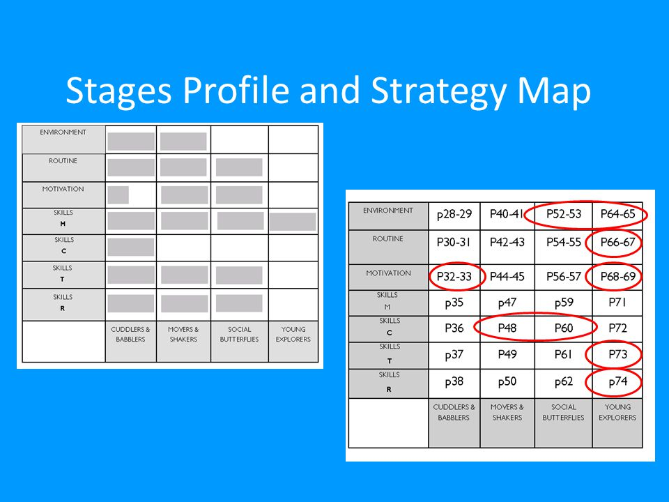 Stages Profile and Strategy Map