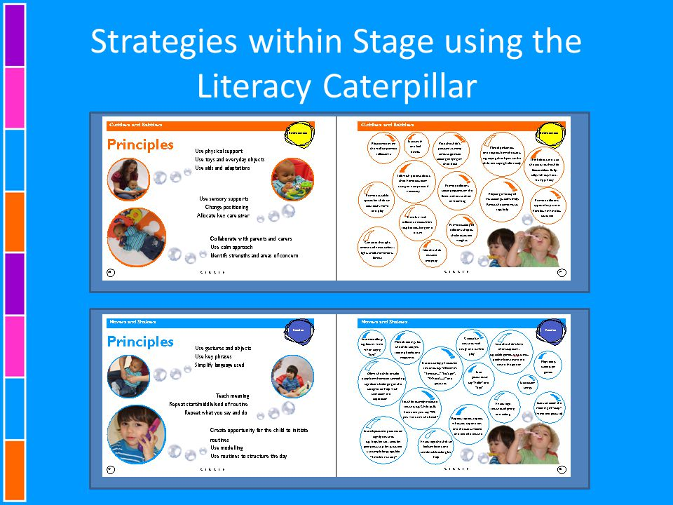 Strategies within Stage using the Literacy Caterpillar