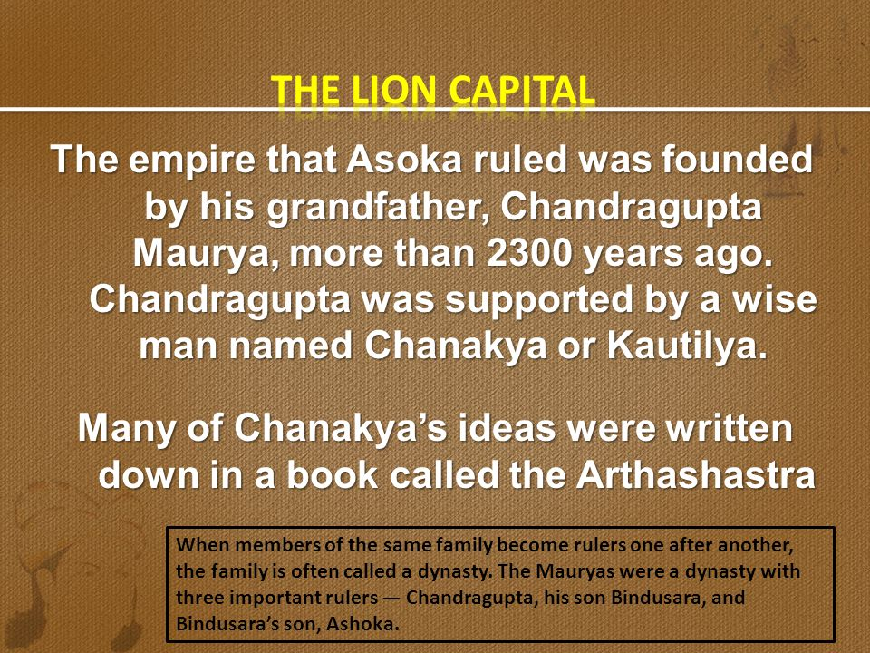 The lion capital