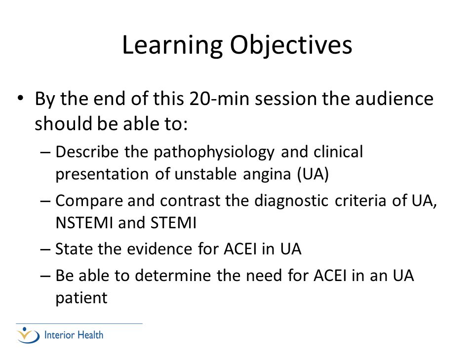 Learning Objectives By the end of this 20-min session the audience should be able to: