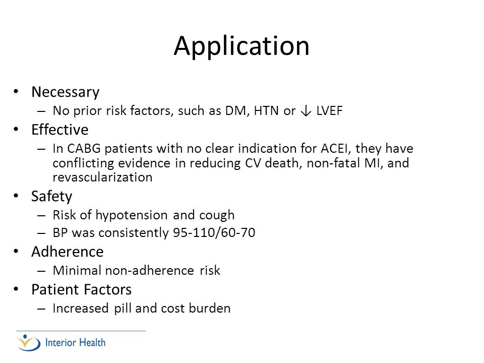Application Necessary Effective Safety Adherence Patient Factors