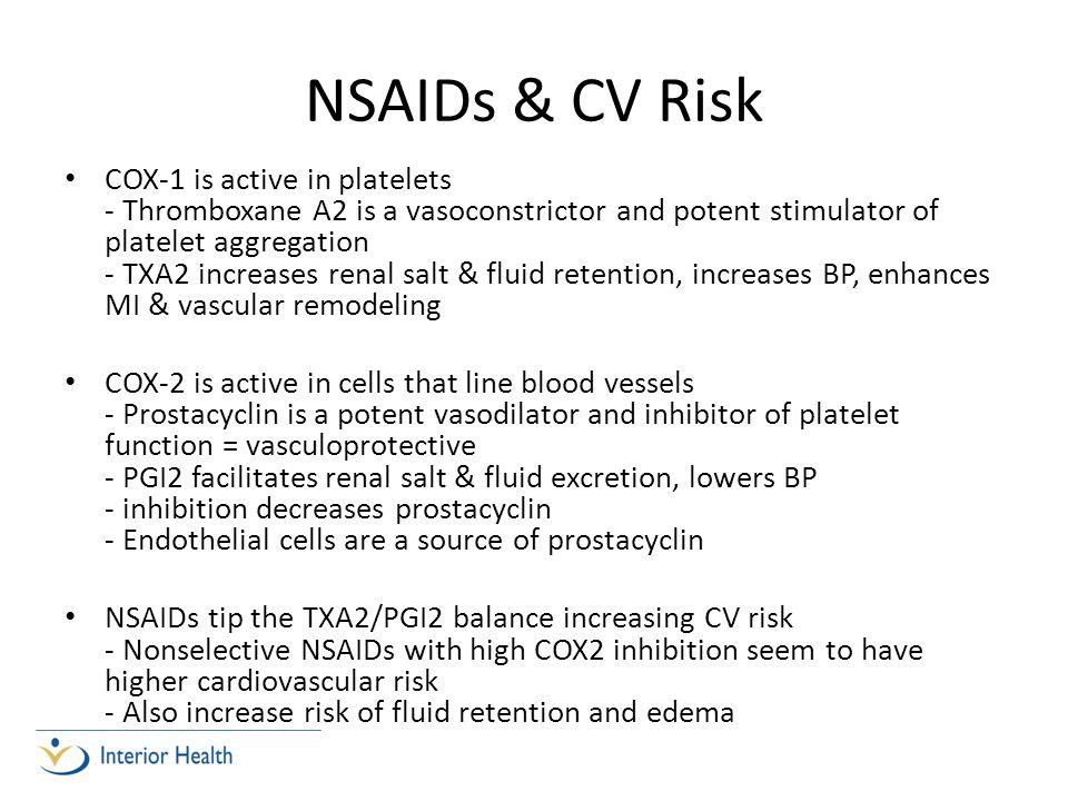 NSAIDs & CV Risk